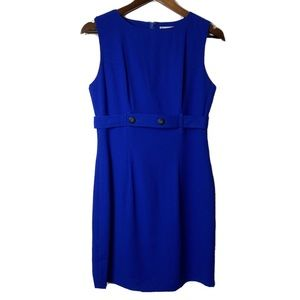 TRACY M blue career dress Size 4
